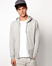 ASOS Hoodie With Polka Dot Print