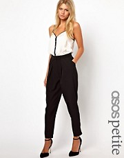 ASOS PETITE Peg Trousers with Soft Pleats
