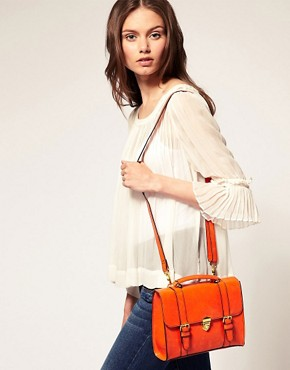 Image 3 ofASOS Clean Line Buckle Satchel