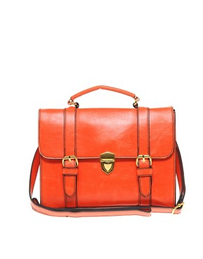 Image 1 ofASOS Clean Line Buckle Satchel