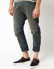 Diesel - Narrot 811M - Jeans carrot con motivo pied de poule al laser