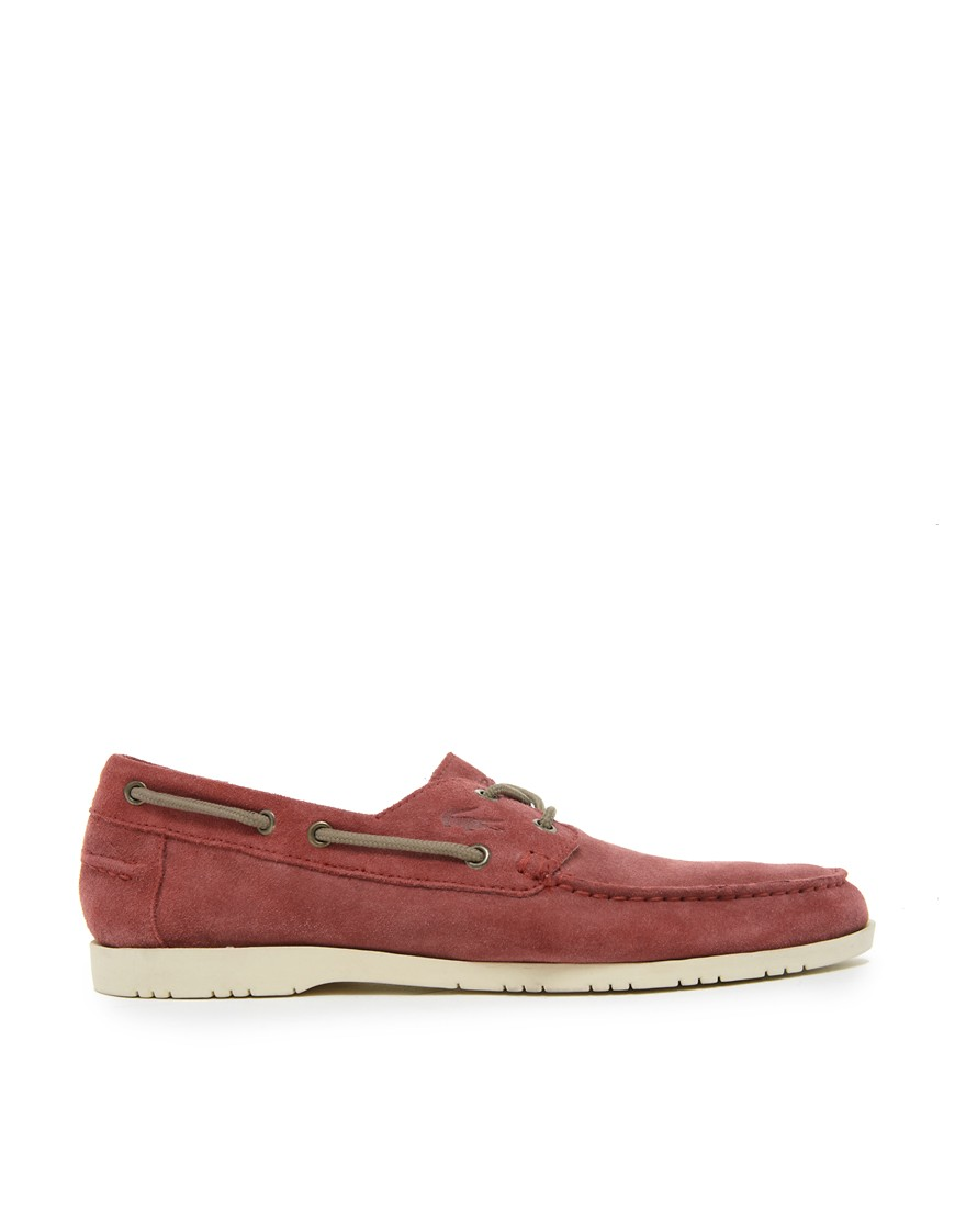 Image 4 of Lacoste Corbon Suede Boat Shoes