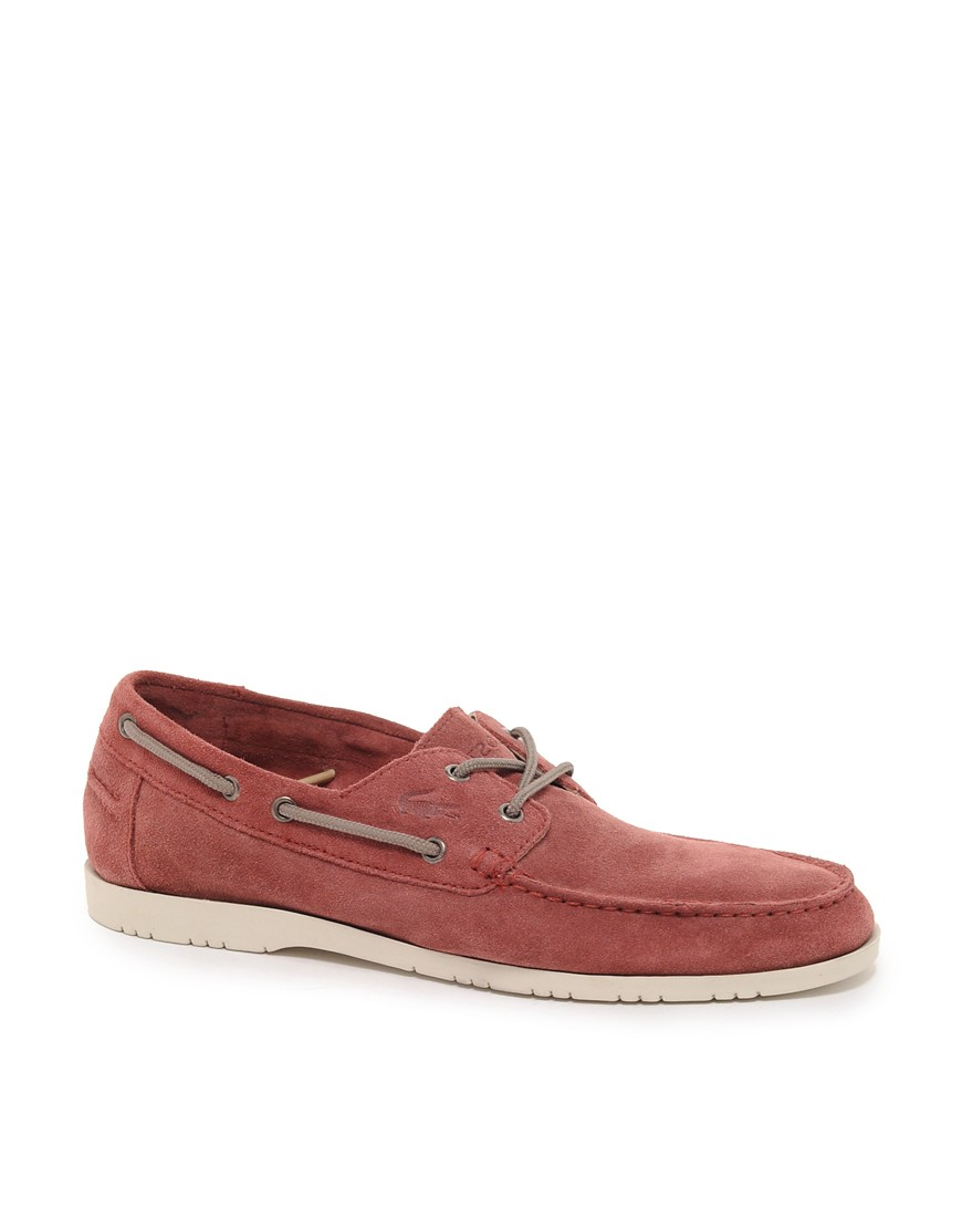 Image 1 of Lacoste Corbon Suede Boat Shoes