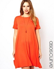 ASOS CURVE Swing Dress With Short Sleeve