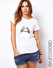 Esclusiva ASOS CURVE - T-shirt con foto con cuore