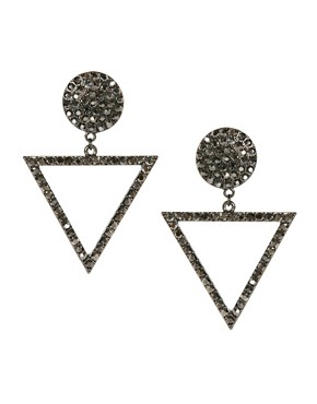 Image 1 ofLove Rocks Deco Crystal Earrings