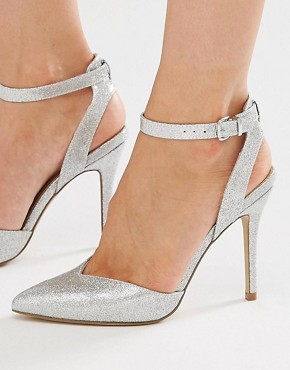 New Look 2 Part Glitter Heeled Shoe