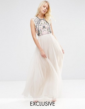 Needle & Thread Embroidery Lace Maxi Dress