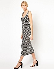 Denham Stripe Twist Maxi Dress