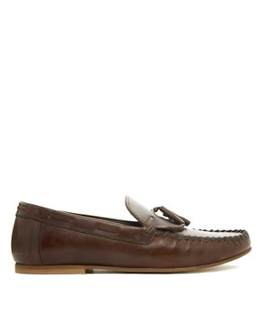 Image 4 ofASOS Tassel Loafers in Leather