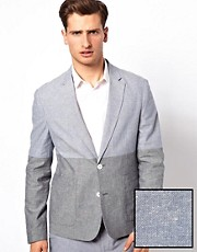 ASOS - Blazer slim fit blu