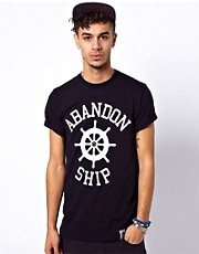 Abandon Ship T-Shirt with Logo Print