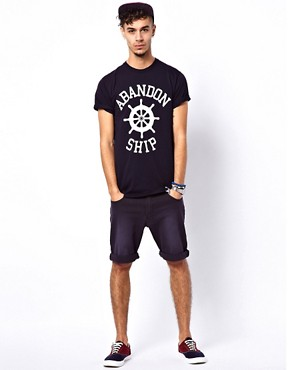 Image 4 ofAbandon Ship T-Shirt with Logo Print