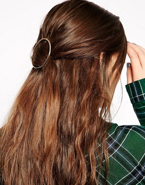 Asos ASOS Circle Hair Brooch (Yellow)