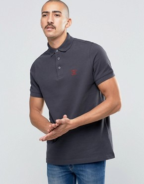 Barbour Polo Shirt With Beacon Logo In Navy