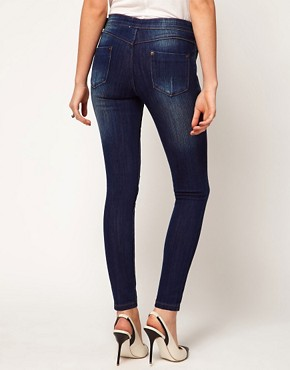 Image 2 ofASOS PETITE Kate Dark Indigo Jeggings