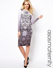 ASOS Maternity Bodycon Dress In Lace Print