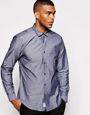 Threadbare Chambray Spot Shirt