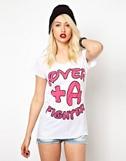 Voodoo Girl  Lover & A Fighter  T-Shirt