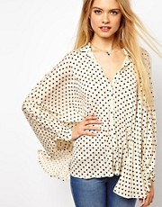 ASOS Oversized Shirt in Spot Print