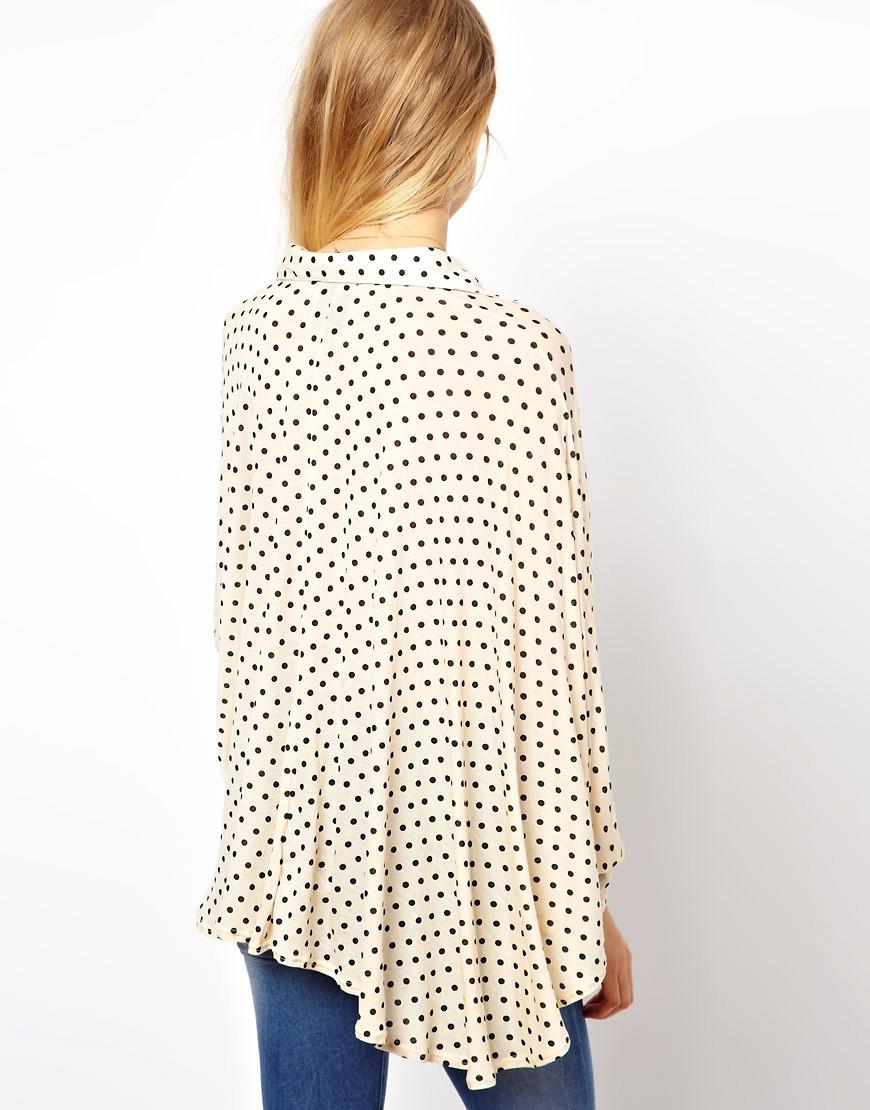 Image 2 ofASOS Oversized Shirt in Spot Print