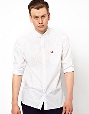Camisa con estampado de puntos de Fred Perry
