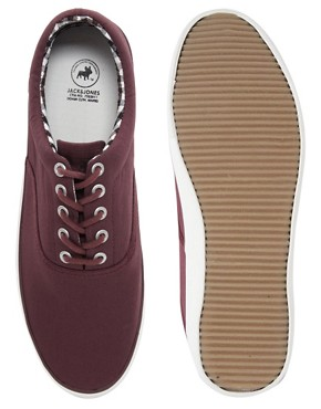 Image 3 ofJack &amp; Jones Kos Lo Canvas Plimsolls
