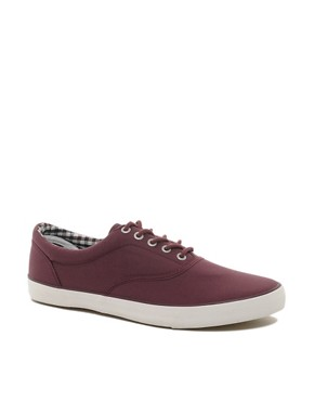 Image 1 ofJack &amp; Jones Kos Lo Canvas Plimsolls