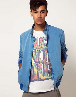 Image 1 ofASOS Harrington Jacket With Acid Wash