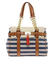 Aldo Macedon Striped Shoulder Bag