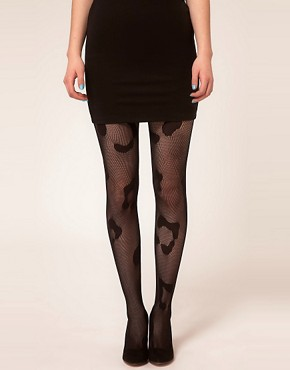 Image 1 ofHouse of Holland For Pretty Polly Animal Fishnet Tights
