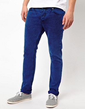 Image 1 ofASOS Skinny Jeans In Coloured Acid Wash