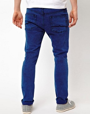 Image 2 ofASOS Skinny Jeans In Coloured Acid Wash