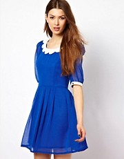 Max C Dress With Scallop Collar