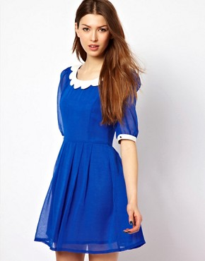 Image 1 ofMax C Dress With Scallop Collar