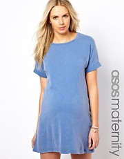 ASOS Maternity Dress In Acid Wash