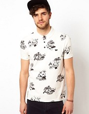 ASOS  Polohemd mit Surfmotiven