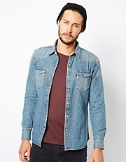 Levis Shirt Western Denim Stonewash
