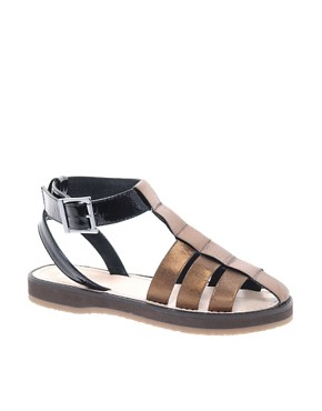 Image 1 ofASOS FUN Gladiator Flat Sandals