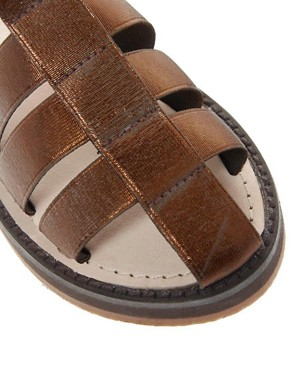 Image 4 ofASOS FUN Gladiator Flat Sandals