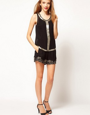 Image 1 ofA Wear Sequin Trim Shorts