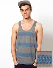 ASOS Stripe Vest With Jacquard Design