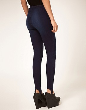 Image 2 ofASOS Indigo Ski Pant Jeggings
