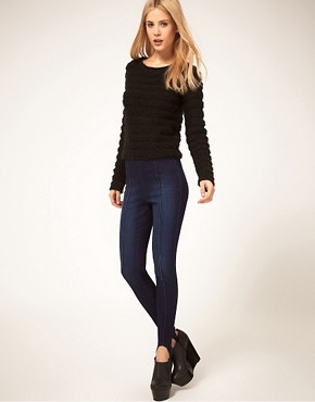 Image 4 ofASOS Indigo Ski Pant Jeggings