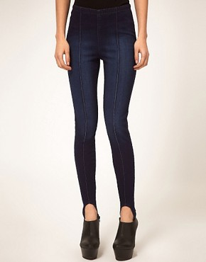 Image 1 ofASOS Indigo Ski Pant Jeggings