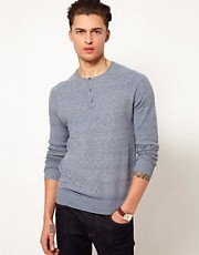 ASOS Grandad Neck Jumper