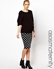 ASOS Maternity Pencil Skirt in Spot