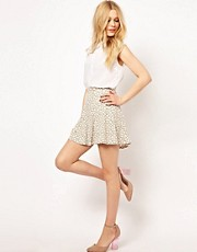 River Island Animal Burnout Skater Skirt
