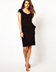 Vesper Peplum Dress with Sweetheart Neckline