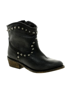 Image 1 ofRiver Island Western Stud Ankle Boots